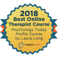 2018 Best Online Therapist Course badge | Winners of the 2018 Best of Therapist Resources Awards | Brighter Vision Web Solutions | Marketing Blog for Therapists