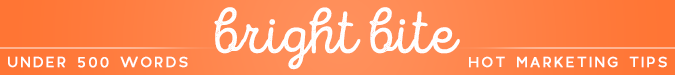 Orange bright bites banner hot marketing tips | 3 Ways to Market Your Private Practice for $0 | Brighter Vision Web Solutions | Therapist Websites & Marketing for Therapists | Marketing Blog for Therapists