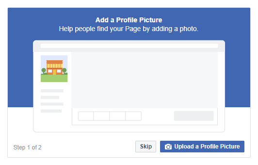 Facebook add a profile picture | The Therapist's Guide to Creating an Awesome Facebook Business Page | Brighter Vision Web Solutions | Marketing Blog for Therapists