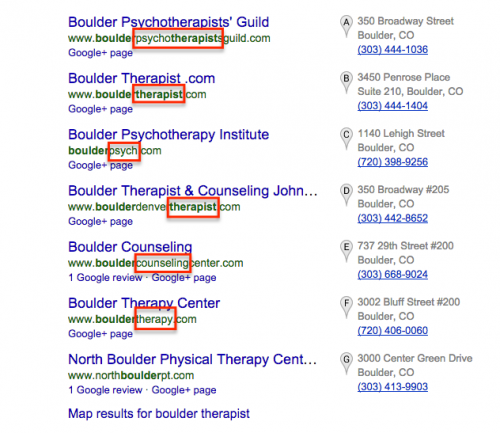 Keyword in domain | 7 Tips to Choose the Right Domain Name for Your Therapist Website | Brighter Vision | Marketing Blog for Therapists