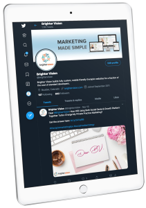 Twitter on iPad | Social Media Image Sizes: A Quick Reference Guide | Brighter Vision | Online Marketing Blog for Therapists