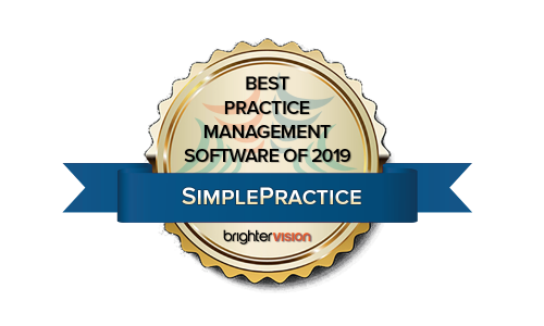 Winner Badge | SimplePractice | Best Practice Management Software of 2019 | Winners of the 2019 Best of Therapist Resources Awards
