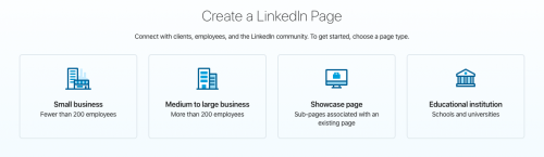 4 page types | How to Set up a LinkedIn Company Page for Your Private Practice | Brighter Vision | Marketing Blog for Therapists