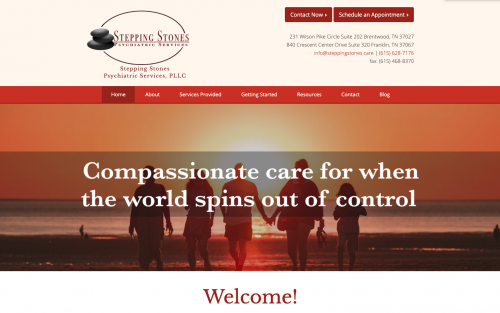 Red therapist website example | Choosing the Right Color Palette for Your Private Practice Website | Brighter Vision | Marketing Blog for Therapists