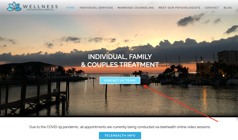 CTA button example | Marketing Telehealth Through Your Website's Blog | Brighter Vision | Marketing Blog for Therapists