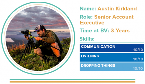 Austin's Introduction Picture | Behind the Vision: Austin Kirkland, Senior Account Executive | Brighter Vision | Marketing Blog for Therapists